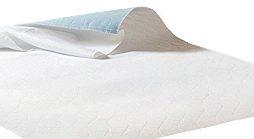 Inkontinenzauflage Inkontinenzunterlage mit Flügel Nässe Schutz 100% Wasserdicht Kranken Matratzen Auflage 75 x 90 cm Mehrfach Auflage