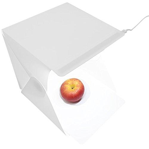 censhaorme Tragbare Falten Lightbox Fotografie-Studio Softbox LED-Licht Softbox Tent Kit für Kamera-Foto-Hintergrund