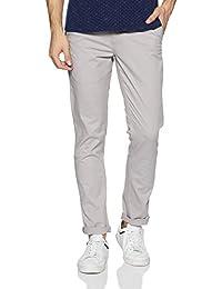 Amazon Brand - Symbol Men's Slim Fit Cotton Casual Trousers