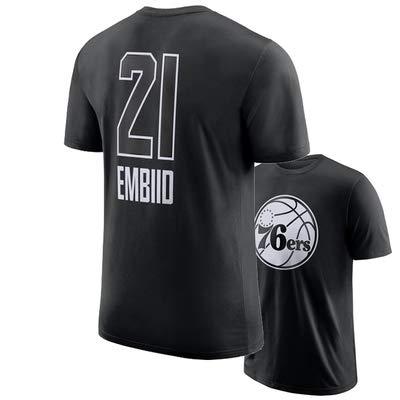 Herren Basketball Trikots, NBA-Philadelphia 76Ers / Joel Embiid # 23 Basketball Uniform Baumwolle Kurzarm Sweatshirt Basketball Swingman Jersey,L(170~185) cm