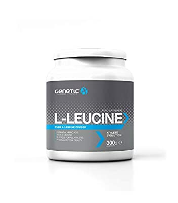 Genetic L-Leucine Powder (300g) - Anabolic Muscle Fuel - Protein Synthesis Booster - Amino Acid Powder, Contains Vitamin B6 from Genetic Supplements