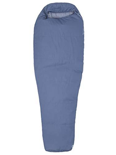 Marmot Nanowave 55 Saco de Dormir Mummy, Ultraligero, de Verano, para Acampar y Trekking, Hombres, Gris (Steel Onyx), Regular-183 cm