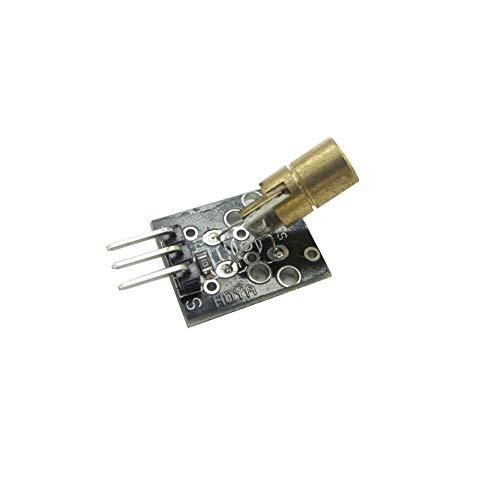 MFMYUANHAN 5 V trasmettitore modulo sensore Laser 6 mm 5 V 5 MW 650 NM Rosso Laser DOT Diodo Rame Testa per Arduino trasduttore Lunghezza d'onda