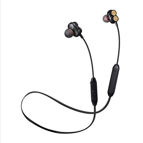 Ching Bluetooth KopfhöRer Leichte Wireless Stereo Magnetic Wasserdichte Sport Mit GeräUschunterdrüCkung Mikrofon FüR Turnhalle Reisen,Black
