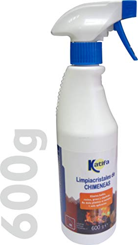 KATIFA Espuma Limpiacristales de chimeneas, 600gr, con pulverizador. Limpia con 1 Sola...