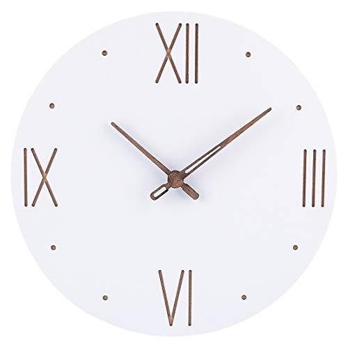 Searchyou - Relojes de Pared de Estilo Simple nórdico Blanco Silencioso para Salón Dormitorio, 40CM - (Tipo 01)