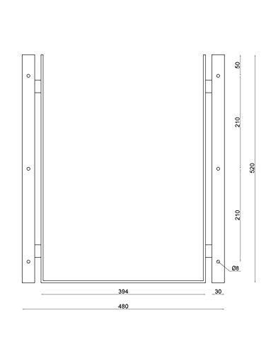 Edelstahl Briefkasten mit Halterung für Doppelstabmattenzaun, RAL 7016 Anthrazitgrau (Art.Nr. 02.1 SET) - 5