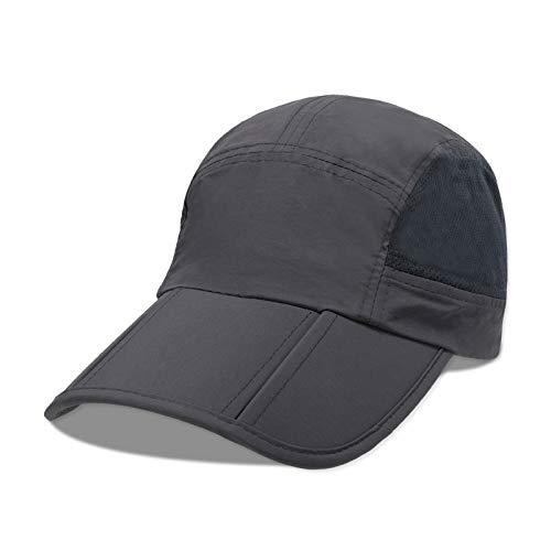 woyaochudan Outdoor Männer und Frauen Falten leicht zu tragen Kappen Schweiß absorbierende atmungsaktive schnell trocknende Sonnenhut Angeln Kappe Sport Baseball Cap 5...