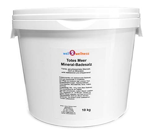 Meer Mineral Badesalz (Totes Meer Mineral Badesalz/Saunasalz grob 10 kg - 100% naturrein aus dem Toten Meer)