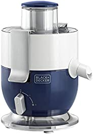 Black+Decker 1000W Compact Juicer Extractor, Blue/White - JE350-B5, 2 Years Warranty