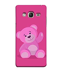 Samsung Galaxy J3 Prime (2017) Back Cover Pink Colour Teddy Bear With Pink Background Design From FUSON