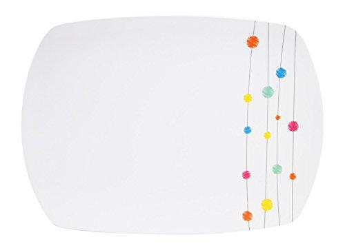 100% Melamin-Geschirr Servierplatte Color Point weiss/b…   04260241466621