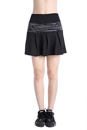 EAST HONG Women's Pocket Sports Golf Skorts Workout Running Tennis Skirt with Inner Shorts