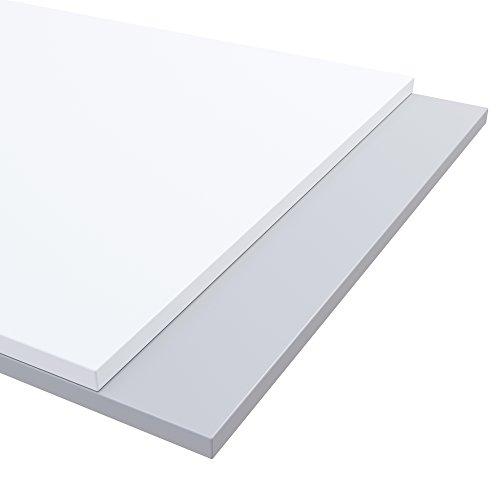 boho möbelwerkstatt Do IT Yourself Tischplatte Holzplatte Schreibtischplatte 180 x 80 x 2.5 cm in Weiß (RAL9010) mit Hoher Kratzfestigkeit und 120 kg Belastbarkeit