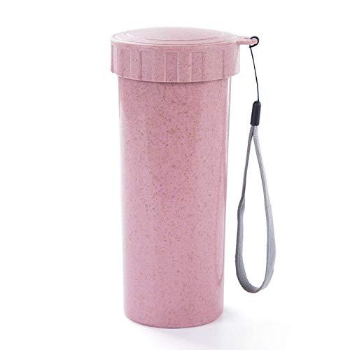 Huacat Reise Becher Büro Kaffee Tee Wasser Flasche Tassen Stroh Weizen Tasse Wasserflasche mit stufiger Filtration Aktivkohle entfernt Bakterien Protozoen tassen -