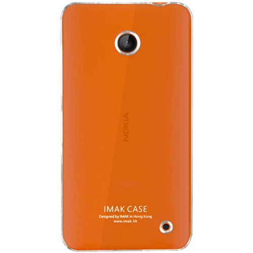 Heartly Imak Crystal Transparent Flip Thin Hard Bumper Back Case Cover for Nokia Lumia 630 635 638 Dual Sim  available at amazon for Rs.299