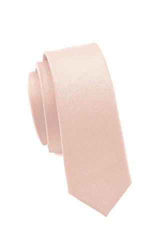 Moderne, extra schmale Krawatten von Parsley, 14 verschiedene Farben, 100% Seide, 4 cm, Handarbeit (Rosé)