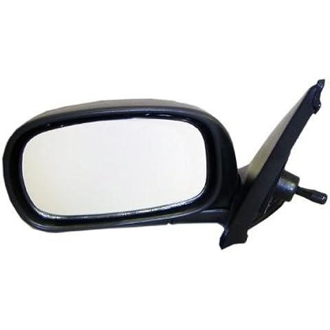 Nissan Micra (K11) modello 1993,1994,1995,1996,1997,1998,1999,2000,2001,2002Excl. Cabrio, Cavo Controllo (manuale), colore: nero, ala con anta a specchio specchio completo SX (lato passeggero) - Nissan Lato Passeggero Specchio