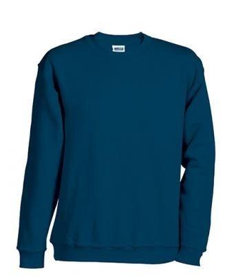 JN-0.40 James+Nicholson Herren Sweatshirt (auch in Übergrößen - bis Größe 5XL), Navy , Gr. 3XL 3XL,Navy