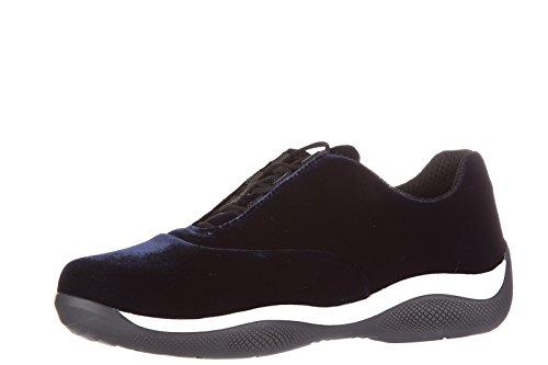 Prada chaussures baskets sneakers femme blu Blu
