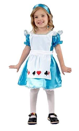 Im Wunderland Kostüm Alice Junge - Für immer junge Kinder Mädchen Alice im Wunderland Kostüm Halloween Kostüm 10-12 Jahre