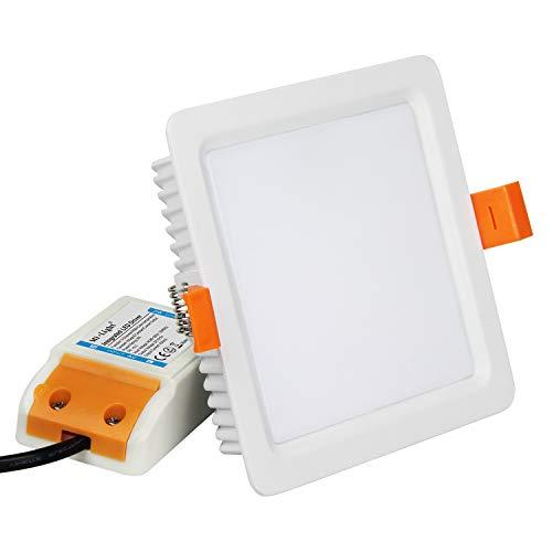 GBCCT 9 WATTS square Quadrat LED Deckenleuchte, smart rf aktiviert Touch Remote Wifi Steuerung LED Downlight Deckenlampe 9W 700LM, FUT064 ()