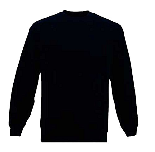 Mens Plain Classic Sweatshirts Sizes XS to 4XL - WORK CASUAL SPORTS LEISURE (M - MEDIUM, BLACK)