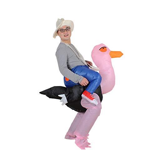 Aufblasbares Straußen Kostüm Strauß mit Ventilator Halloween Cosplay für Audlts (Strauß) (Kind Aufblasbare Strauß Kostüm)