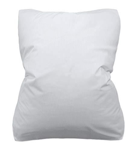 Haus und Deko Bettbezug 135x200 cm zu Hotel Bettwäsche 100% Baumwolle Bezug Bettdecke einzeln Feinstreifen Damast Weiss mit Hotelverschluss Kochfest -