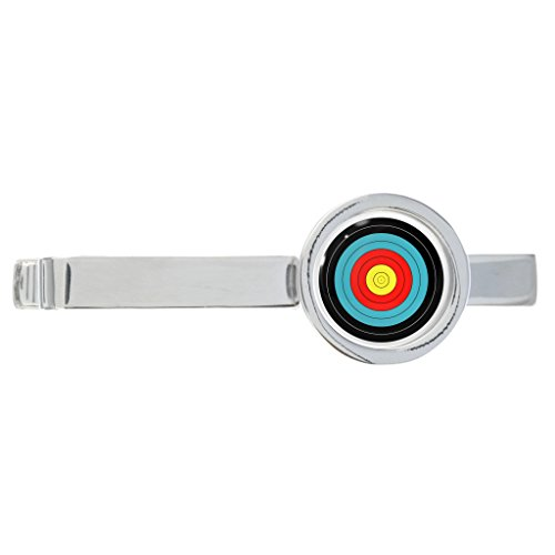 Bogenschießen Ziel Design rhodiniert Krawatte Clip in Geschenkbox