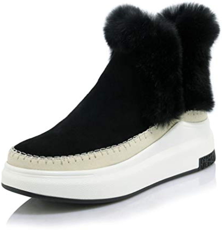 HY Scarpe da Donna, Inverno Caldo Antivento Snowproof Snow stivali, Ladies Plus Cashmere Piatto Fondo Spesso Pelosi...   Prezzo Affare    Scolaro/Ragazze Scarpa