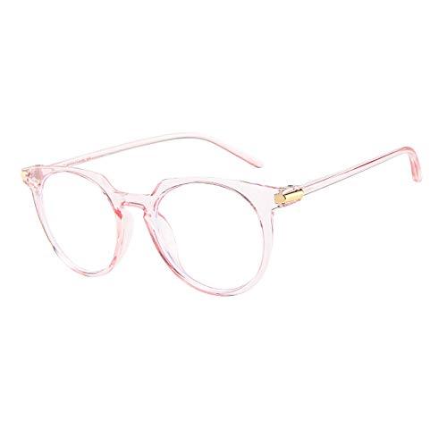 Honestyi Mode ovale runde klare Linse Brille Vintage Geek Nerd Retro Style Metallrahmen Flache 15992 Sonnenbrille