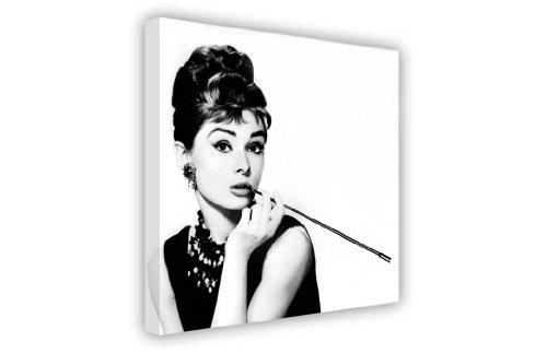 """Iconic Audrey Hepburn Unternehmen eine Zigarette und schwarz WhiteLarge Kunstdruck auf Leinwand Landschaft Bilder 7- 20"""" X 30"""" (50CM X 76CM) Schwarz/Weiß"""