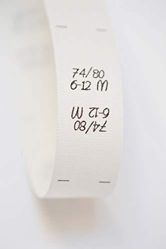 Größenetiketten 74 80 6-12 M, für Kleidung, Baby, zum Einnähen, Doppelgröße, 25 Stück, Textiletiketten, Einnähetiketten, DIY nähen 0,20 €/St.