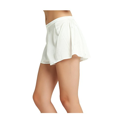 Jasmine Silk Damen Seide Pur Boxer Shorts Boxershorts Elfenbein (Large) - Luxuriöse 400 Thread