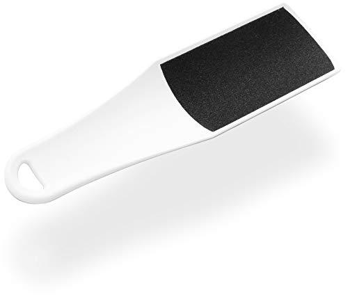 Doppelfussfeile Hornhautfeile BOW, weiss, Pediküre Feile - 100/180 Grit - gebogene Form