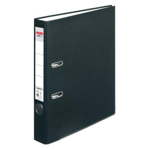 Herlitz 5450804 Ordner maX.file protect (A4, 5 cm, mit Einsteckrückenschild) schwarz