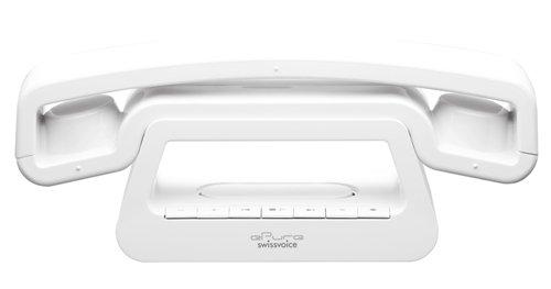 Swissvoice ePure TAM DECT-Schnurlostelefon mit Anrufbeantworter (3,6 cm (1,4 Zoll) Display) weiß