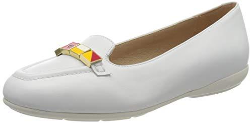 Geox D Annytah B, Bailarinas para Mujer, Blanco White C1000, 42 EU