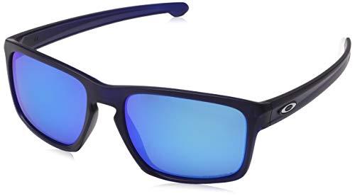Oakley Herren Sliver 926245 Sonnenbrille, Grau (Matte Translucent Blue), 57
