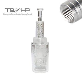 12 Nadelpatrone Elektrische Derma Pen 10 Stück Ersatznadeln,Einstellbar Gewinde-Schlitz Für Auto Electric Derma Stempel
