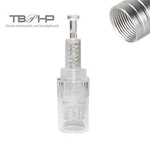 TBPHP 12 Nadelpatrone Elektrische Derma Pen 10 Stück Ersatznadeln,Einstellbar Gewinde-Schlitz Für Auto Electric Derma Stempel