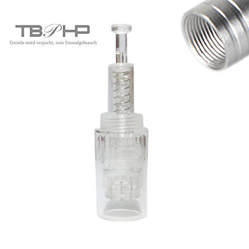 12 Nadelpatrone Elektrische Derma Pen 10 Stück Ersatznadeln,Einstellbar Gewinde-Schlitz Für Auto Electric Derma Stempel -