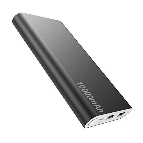 Universal Power Bank (Externer Akku Universal Power Bank 10000mah - OrimeCharger PB115 Mit 2 USB Ports Output, Extra Kompakt Handy Ladegerät für iPhone Samsung Galaxy HTC One Plus Schwarz)