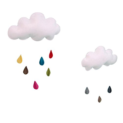 Tinksky Wolke Regentropfen Hängende Dekor DIY Baby Zimmer Dekor Wand Wandaufkleber Kinderzimmer Dekoration für Baby Dusche