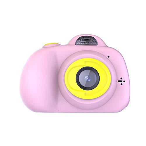 Pinjeer Pädagogisches Kleinkindspielzeug der Kinder 12MP Foto-Digitalkamera scherzt Minispielzeug-Kamera mit Hals-Bügel-Fotografie-Geschenken für über 3 Einjahres (Color : Pink, Größe : 16G) - Hals-bügel