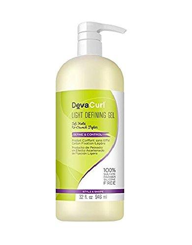 DevaCurl Gel hydratant léger AnGéll - Définition des boucles, fixation douce et protection maximale contre les frISO ttis - 946 ml