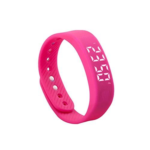 T5 Smart Armband Schrittzähler Activity Tracker LED-Anzeige Multifunktions-Outdoor-Sport-Armband Gesundheit Uhr für Erwachsene