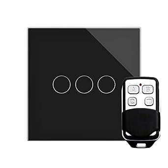 retrotouch rts2040 designer lichtschalter 3 fach touch. Black Bedroom Furniture Sets. Home Design Ideas