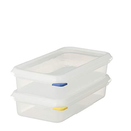 2 x METRO Professional GN 1/3 Behälter mit Deckel | Höhe 65 mm | Vorratsbehälter | Frischhalteboxen | HACCP | Polypropylen| Mikrowellengeeignet | Spülmaschinengeeignet | mit